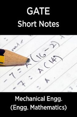 GATE Short Notes For Mechanical Engg. (Engineering Mathematics)
