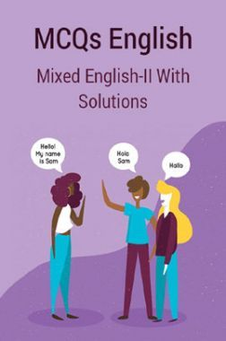 MCQs Mixed English-II With Solutions