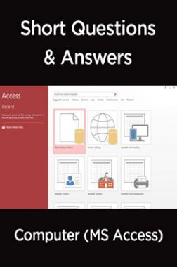 Short Questions & Answers Computer (MS Access)