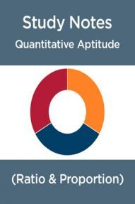 Study Notes Of Quantitative Aptitude (Ratio & Proportion)