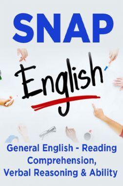 SNAP General English - Reading Comprehension, Verbal Reasoning & Ability