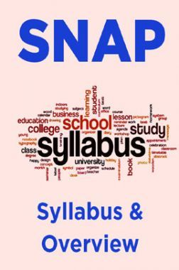 SNAP Syllabus & Overview