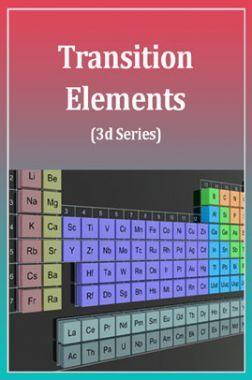 Transition Elements (3d Series)