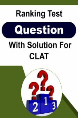 Ranking Test Question With Solution For CLAT