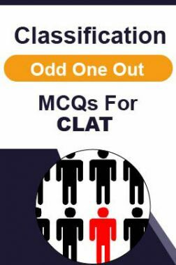 Classification Odd One Out MCQs For CLAT