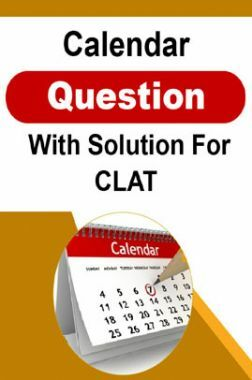 Calendar Question With Solution For CLAT