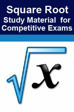 Square Root Study Material For RRB JE