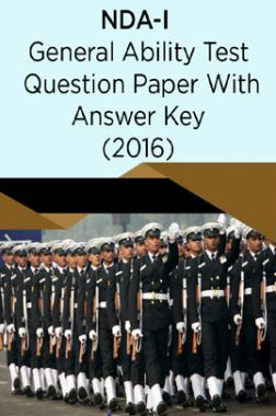 NDA-I General Ability Test Question Paper With Answer Key (2016)