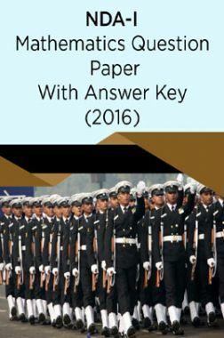 NDA-I Mathematics Question Paper With Answer Key (2016)