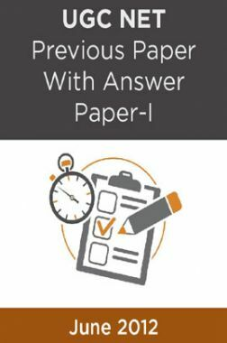 UGC NET Previous Paper With Answer Paper-I June 2012