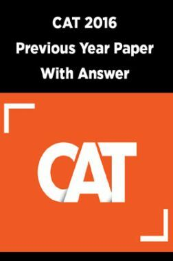 CAT 2016 Previous Year Paper With Answer