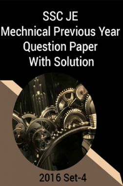 SSC JE Mechnical Previous Year Question Paper With Solution 2016 Set-4