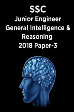 SSC Junior Engineer General Intelligence And Reasoning 2018 Paper-3