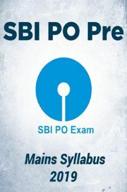 SBI PO Pre & Mains Syllabus 2019