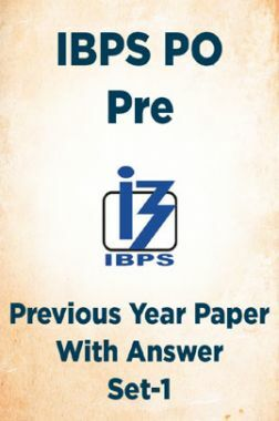 IBPS PO Pre Previous Year Paper With Answer Set-1