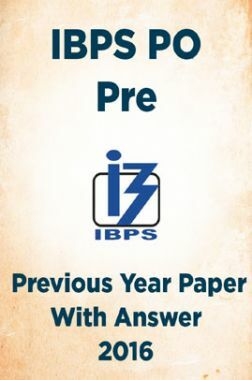 IBPS PO Pre Previous Year Paper With Answer 2016