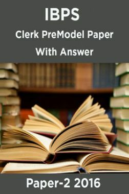 IBPS Clerk Pre Model Paper With Answer Paper-2 2016