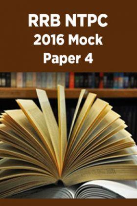RRB NTPC 2016 Mock Paper 4