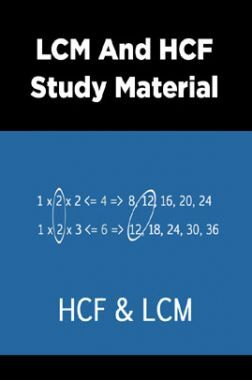 LCM And HCF Study Material