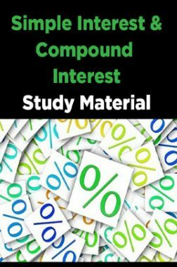 Simple Interest & Compound Interest Study Material