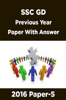 SSC GD Previous Year Paper With Answer 2016 Paper-5