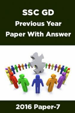 SSC GD Previous Year Paper With Answer 2016 Paper-7