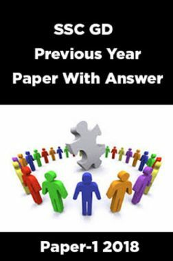 SSC GD Previous Year Paper With Answer Paper-1 2018