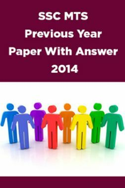 SSC MTS Previous Year Paper With Answer 2014