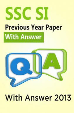 SSC SI Previous Year Paper With Answer 2013