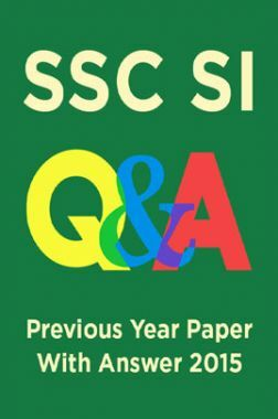 SSC SI Previous Year Paper With Answer 2015