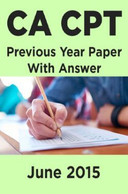CA CPT Previous Year Paper With Answer June 2015