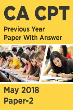 CA CPT Previous Year Paper With Answer May 2018 Paper-2