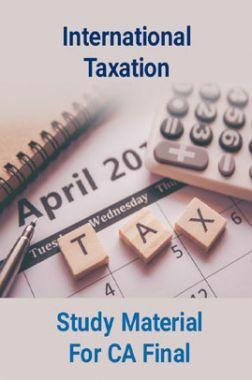 International Taxation Study Material For CA Final
