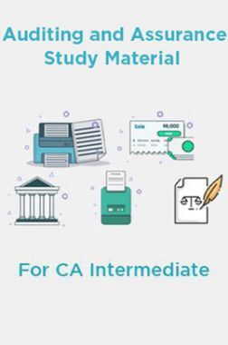 Auditing and Assurance Study Material For CA Intermediate