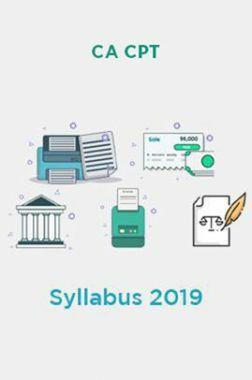CA CPT Syllabus 2019