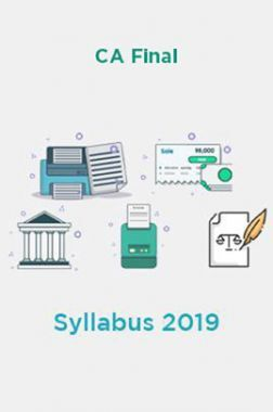 CA Final Syllabus 2019