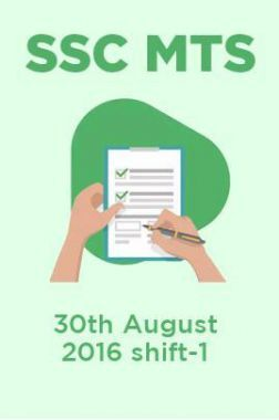 SSC MTS 30th August 2016 shift-1