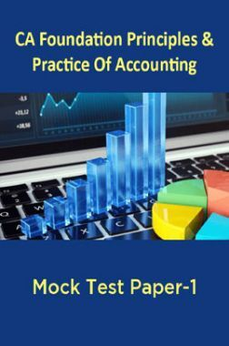 CA Foundation Principles And Practice Of Accounting Mock Test Paper-1