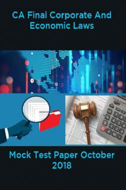 CA Final Corporate And Economic Laws Mock Test Paper October 2018
