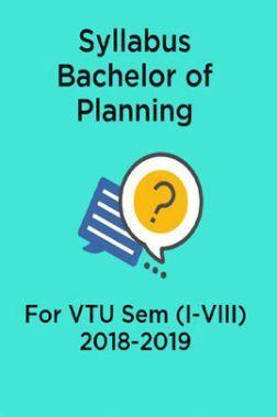Syllabus Bachelor of Planning For VTU Sem (I-VIII)