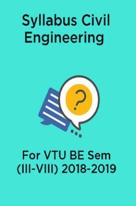 Syllabus Civil Engineering For VTU BE Sem (III-VIII) 2018-2019