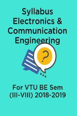 Syllabus Electronics & Communication Engineering For VTU BE Sem (III-VIII) 2018-2019