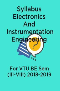 Syllabus Electronics And Instrumentation Engineering For VTU BE Sem (III-VIII) 2018-2019