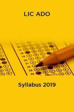 LIC ADO Syllabus 2019