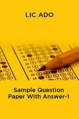 LIC ADO Sample Question Paper With Answer-1