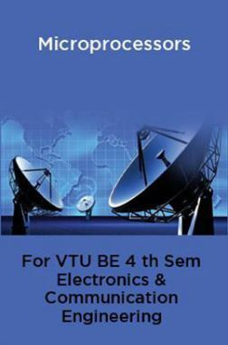 Microprocessors For VTU BE 4th Sem Electronics & Communication Engineering