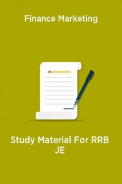 Finance Marketing Study Material For RRB JE