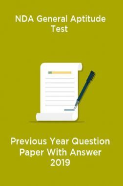 NDA General Aptitude Test Previous Year Question Paper With Answer 2019