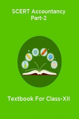 SCERT Accountancy Part-2 Textbook For Class-XII