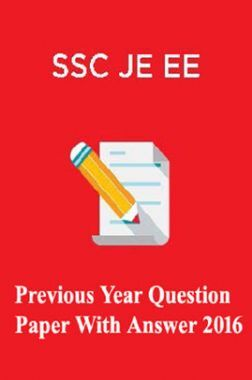 SSC JE EE Previous Year Paper With Answer 2016